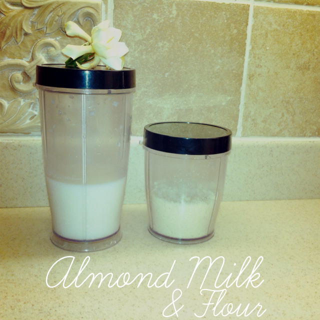 almond milk & flour