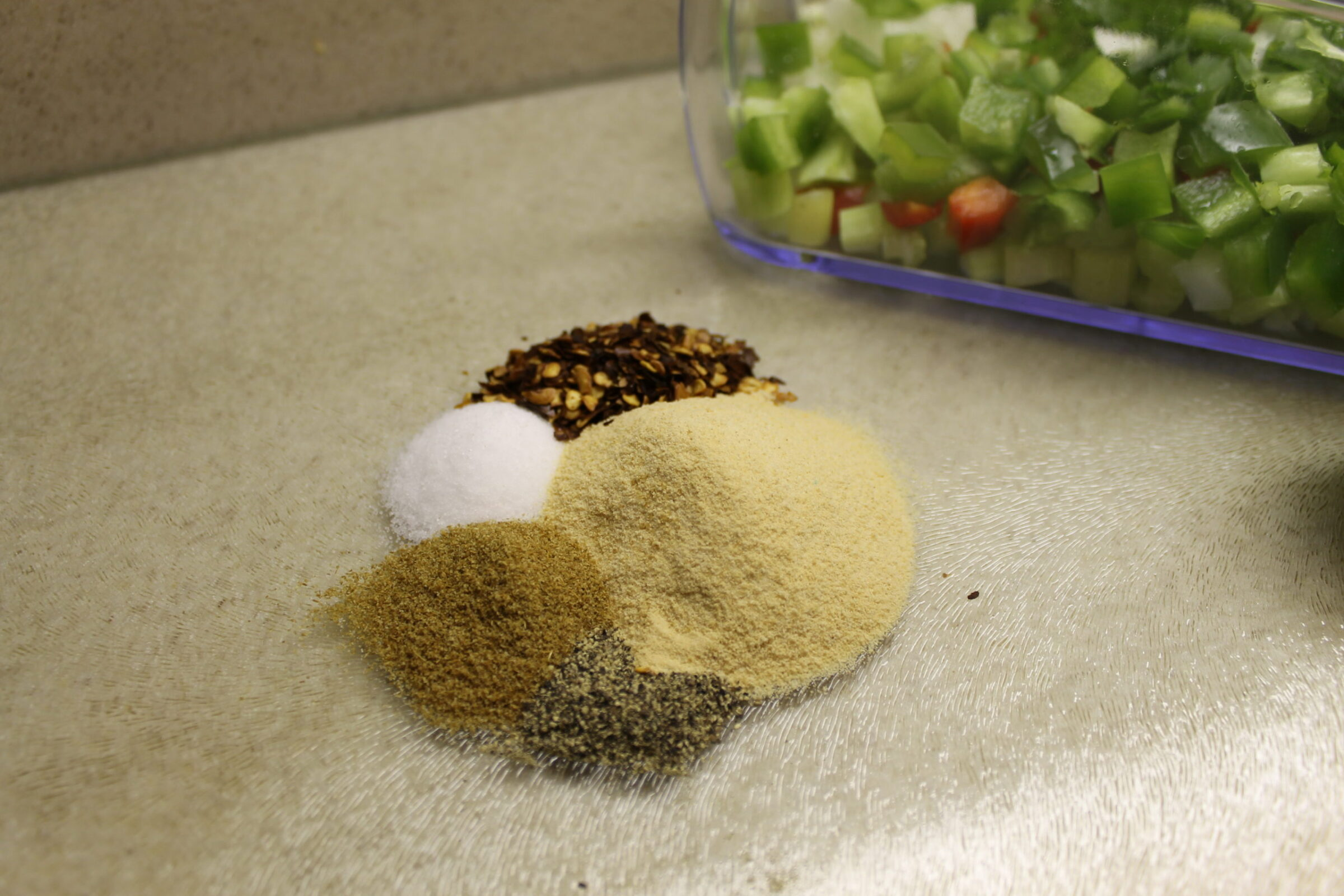 Measure out spices