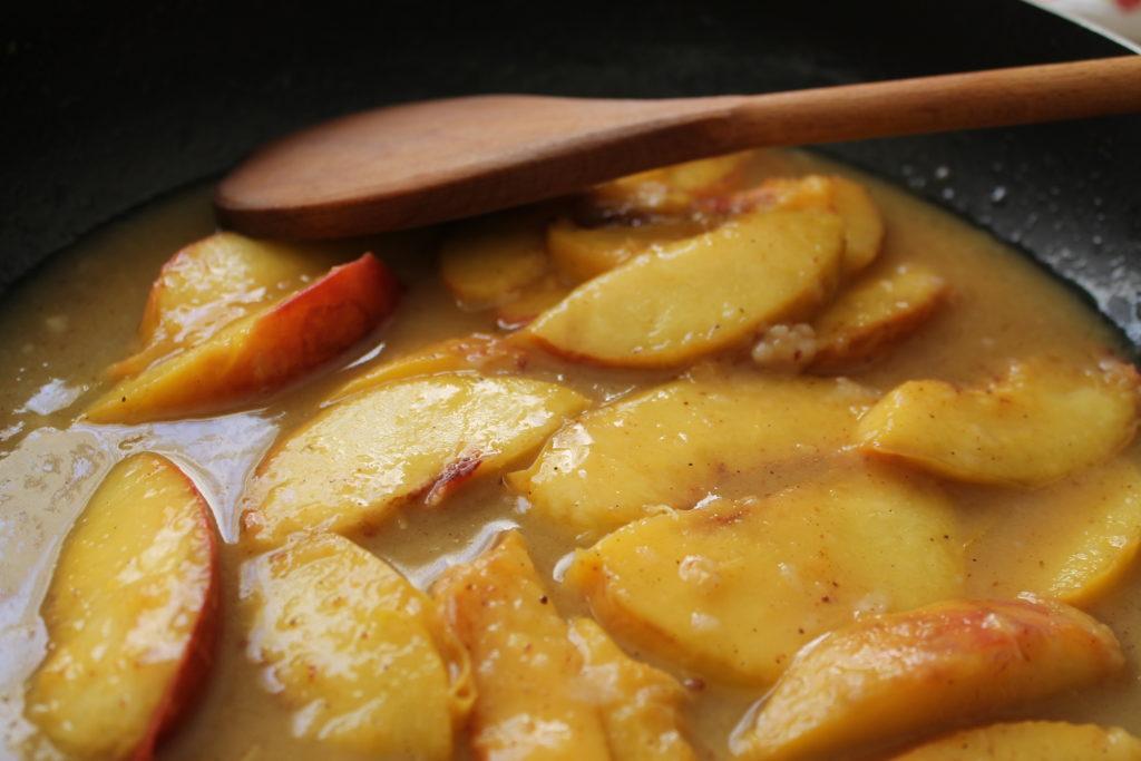 Healthy Glazed Peaches