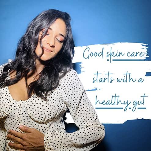 "Rakhi with text ""Good Skin Care"""